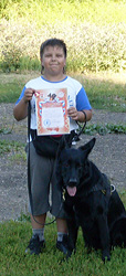 Диплом I степени по дрессировке собак